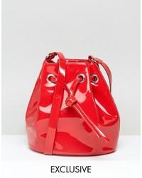 Monki Patent Bucket Bag