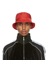 Versace Red Gv Signature Bucket Hat