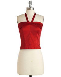 Rock steadysteady clothing in halter who goes there top in ruby medium 227685