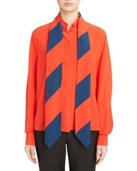 Givenchy Stripe Scarf Silk Shirt