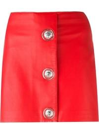 Versus Buttoned Mini Skirt