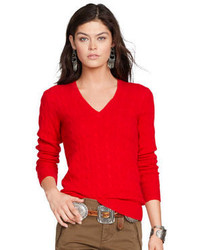 Red cable sweater original 1334499