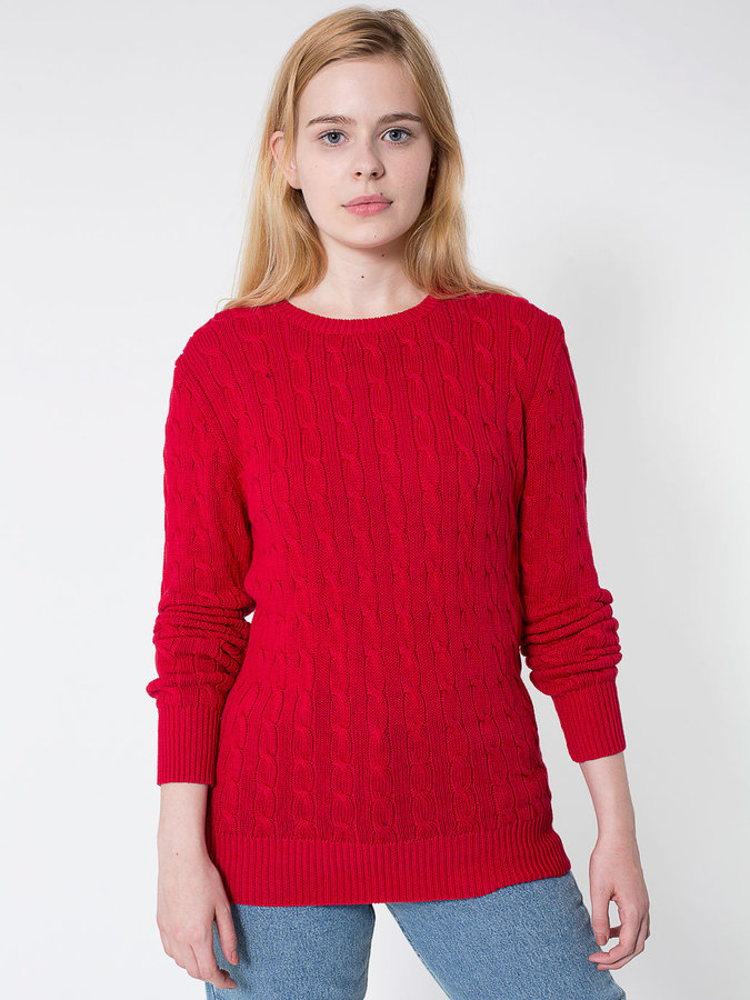 American Apparel Unisex Cable Knit Sweater | Where to buy & how to ...