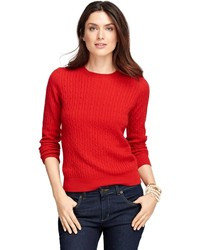 Brooks brothers cashmere cable crewneck sweater medium 379489