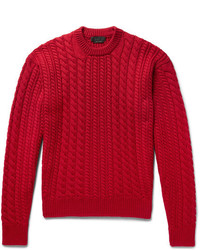 Prada Cable Knit Virgin Wool Sweater