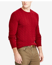 Polo Ralph Lauren Cable Knit Wool And Cashmere Blend Sweater Created For Macys
