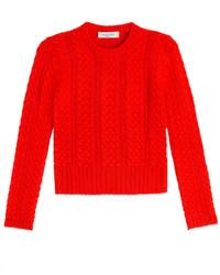 Valentino Cashmere Cable Knit Pullover