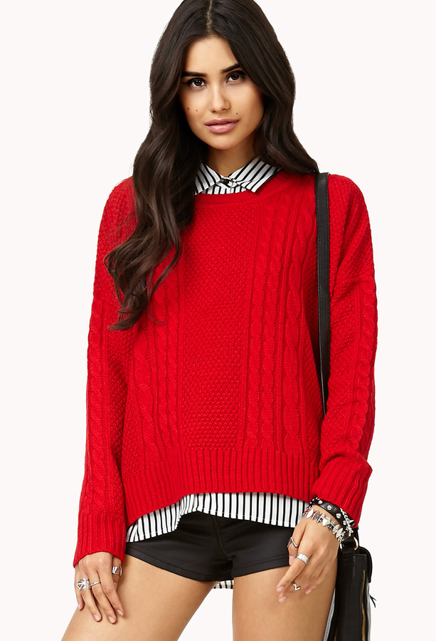 Forever 21 Classic Cable Knit Sweater Where To Buy How To Wear
