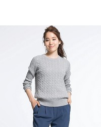 Uniqlo Cotton Cashmere Cable Knit Sweater | Where to buy & how to wear