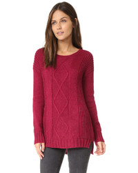 Cupcakes And Cashmere Fairview Cable Knit Sweater