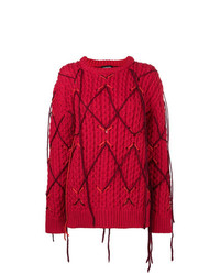 Calvin Klein 205W39nyc Fringed Knitted Sweater