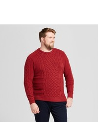 Goodfellow Co Big Tall Cable Crew Neck Sweater