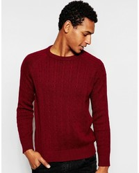 Selected Homme Cable Knit Sweater