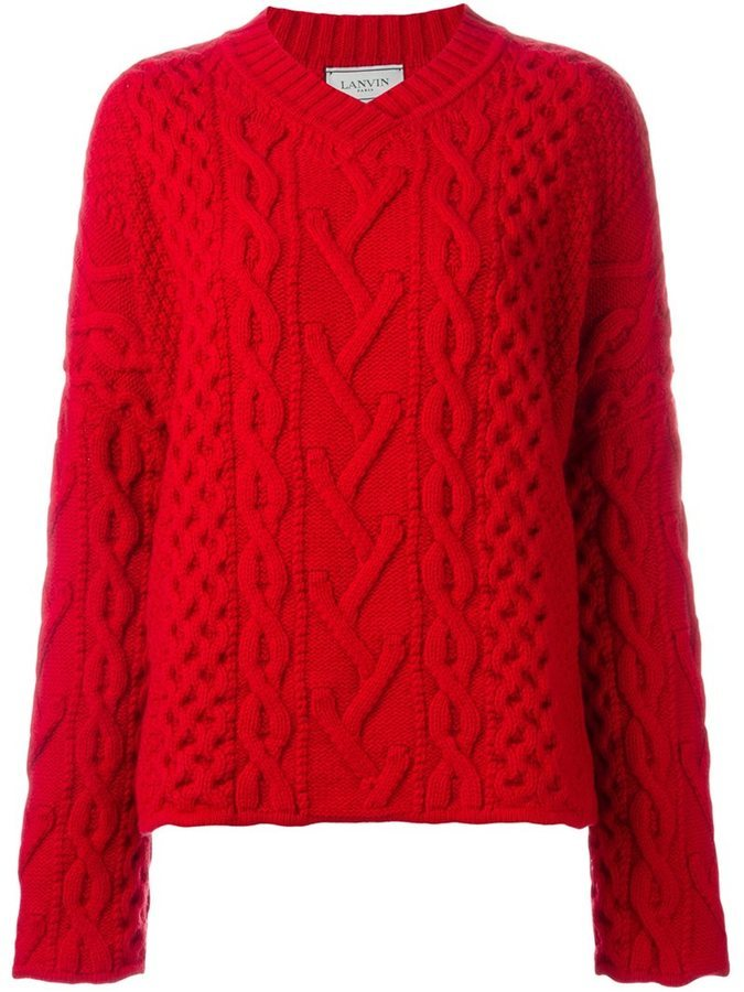 Lanvin Cable Knit V Neck Jumper | Where to buy & how to wear