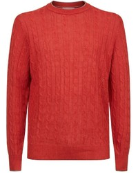 Brunello Cucinelli Linen Crew Neck Sweater