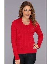 Lacoste Ls Cotton Cable Crewneck Sweater