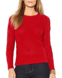 Lauren Ralph Lauren Mixed Knit Sweater