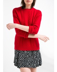 Mango Outlet Cable Knit Cotton Sweater