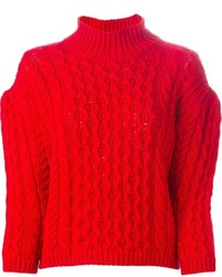 Simone Rocha Chunky Cable Knit Sweater