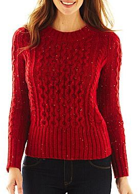 jcpenney St Johns Bay Cable Knit Sweater | Where to buy & how to wear
