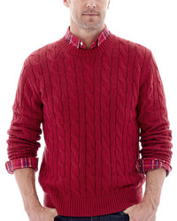 St Johns Bay St Johns Bay Cable Knit Crewneck Sweater