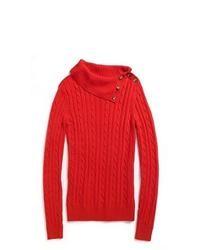 Tommy Hilfiger Splitneck Cable Sweater