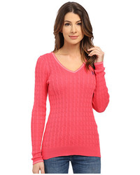 U.S. Polo Assn. V Neck Cable Sweater