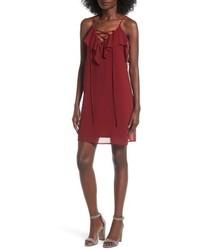 Soprano Lace Up Camisole Dress