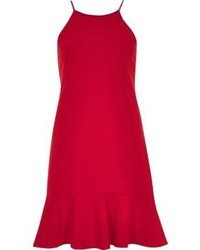 River Island Red Frill Hem Cami Dress
