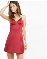 Express V Neck Structured Fit And Flare Dress