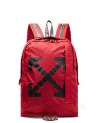 Off-White Easy Logo Print Canvas Backpack