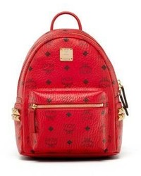 MCM Stark Mini Coated Canvas Backpack