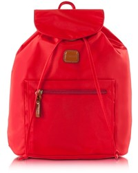 Bric's X Travel Red Nylon Backpack