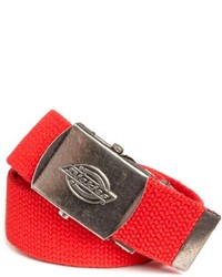 Dickies 30 Millimeter Cotton Web Belt With Military Logo Buckle
