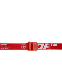 Off-White Red And White 20 Industrial Belt