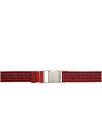 Palm Angels Red New Tape Belt