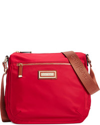Red Canvas Crossbody Bag