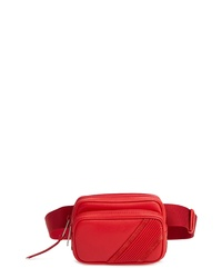 Red Canvas Fanny Pack