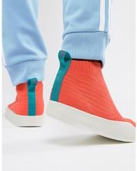 adidas Originals Adilette Primeknit Sock Summer Trainers In Orange Cm8227