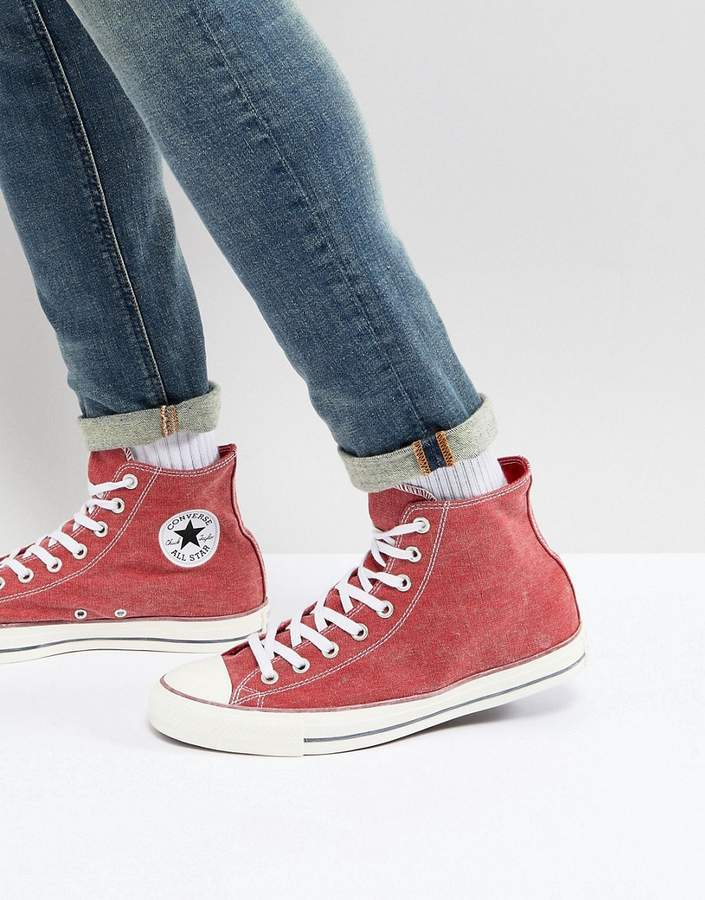 810a9fcbf8c Converse Chuck Taylor All Star Hi Sneakers In Red 159538c, $72 ...