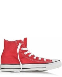 Limited edition all star red canvas high top sneaker medium 6982775