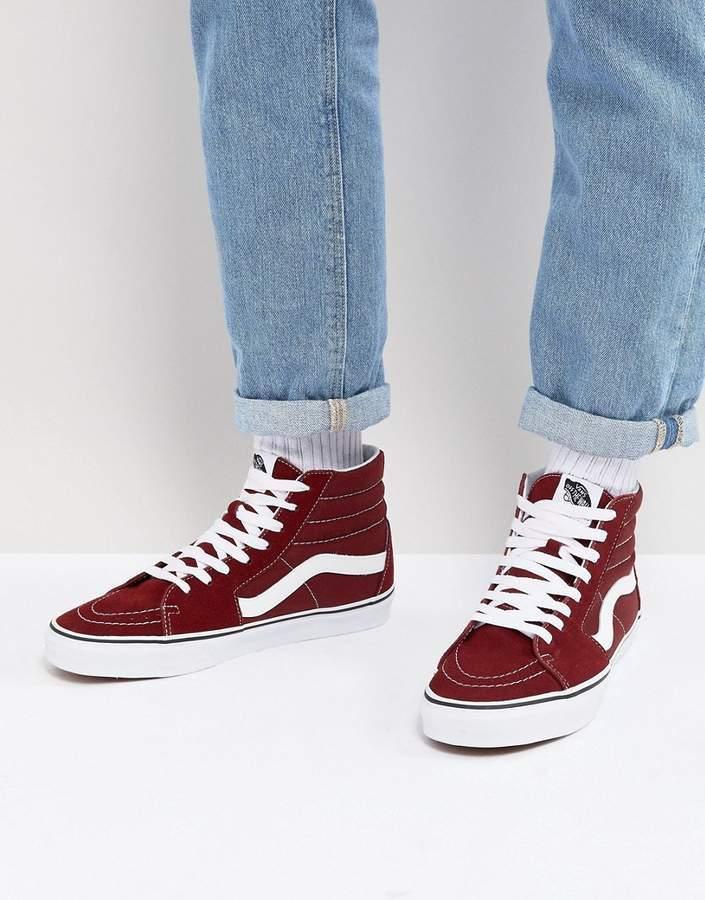 6a5575a828 ... Top Sneakers Vans Sk8 Hi Canvas Sneakers In Red ...