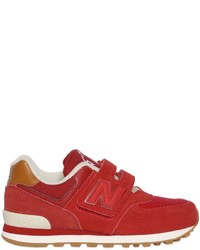 New Balance 574 Suede Canvas Sneakers