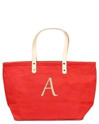 Cathy Monogram Red Nantucket Tote Handbag Cathys Concepts