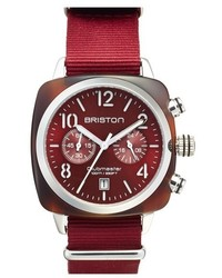 Briston Watches Chronograph Nato Strap Watch 40mm