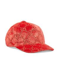 Gucci Metallic Velvet Jacquard Baseball Cap