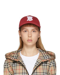 Burberry Red Logo Baseball Cap