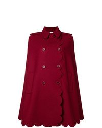 RED Valentino Armure Scallop Detail Cape