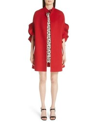 Valentino Ruffle Sleeve Compact Wool Cashmere Cape