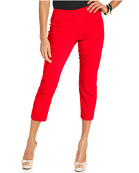 Petite tummy control pull on capri pants only at macys medium 175927